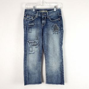 BKE Culture Cropped Low Rise Stretch Jeans Size 25